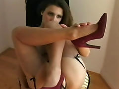 Stockings and lingerie in erotic tease porn tube video
