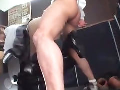 Busty Schoolgirl Fucked By Schoolguy Creampie On The Chair In The Internet Cafe