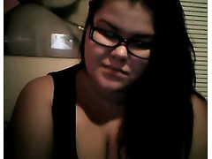 fat BBW teen showing off on webcam