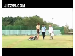 big tits milf exposed outdoor threesome sex