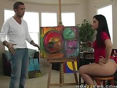 Luscious Lopez Paints a Masterpiece with Her Phat tube porn video