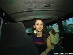 Beautiful Katrina is amazed by a big cock in a bangbus