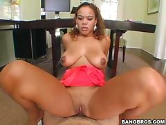 Calisyn is the babe with hanging tits and tight wet pussy