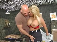 Busty Blonde Shyla Stylez is the Military Penis Police