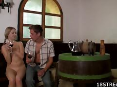Wine and Cock Tasting porn tube video