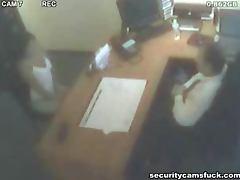 Salacious boss makes his secretary give him a blowjob