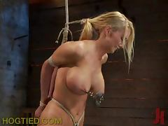 Kinky Bitch Submits to Bondage and Toys tube porn video