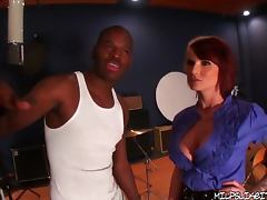 Monroe Valentino Gets Drilled by Two Black Cocks