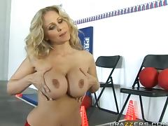 Dodge Ball babe Julia Ann is eat her coach's balls