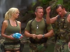 Hardcore Threesome With The Sexy Blonde Soldier Stormy Daniels porn tube video