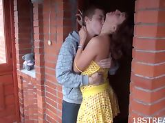 Nasty and Aleksandr Fuck In A Porch In Hardcore Scene