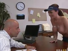Sophie Dee Cleans Windows With Her Big Tits and Squirts To a Big Cock