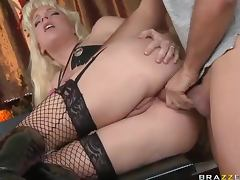 Anal Toying and Banging For The Big Ass Blonde Heidi Mayne