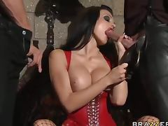 Dick Thirsty Vampire Gets Her Just Deserves In A Hot Threesome