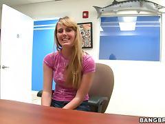 Lovely Blonde Emma Ash Big Cock Blowjob