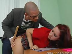 Redhead School Girl Kylee Strutt Loves Substitute Teachers