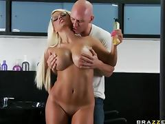 Horniest Busty Blonde Jacky Joy Hardcore Sex With Facial