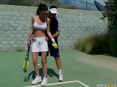 Sex in the Locker Room with Jessica Jaymes and Her Tennis Titties