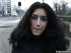 Horny Teen Brunette Sucks And Fucks In Public