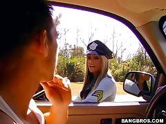 Cop, Ass, Babe, Big Tits, Blowjob, Cop