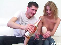 Creamy Facial For The Blonde Teen Kaja