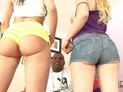 Addi Crue and Kelly Divine enjoy Hardcore Interracial Threesome