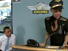 Delicious Brunette Chanel Preston Gets Fucked In a Stewardess Uniform tube porn video