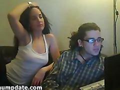 Hot Brunette Sucks and Fucks a Big Cock Homemade Sex Tape