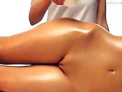 Skinny Brunette Babe Gets The Hottest Lesbian Massage Ever