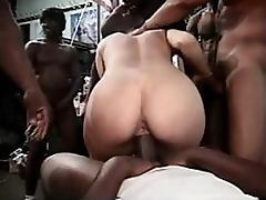 Extremely Hot Anal Blonde Gets Fucked Hard In an Interracial Gangbang