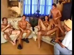 Olivia De Treville Gets a DP and a Bukkake Facial In a Huge Gangbang