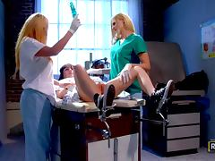 Doctor, Blonde, Dildo, Doctor, Hospital, Juicy