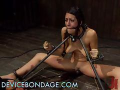 Sleazy Brunette Has Some Brutal BDSM tube porn video