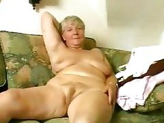 Blonde Granny Fucks Her Hairy Beefy Lipped Pussy With a Dildo tube porn video
