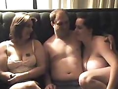 Chubby Amateur Babes Sharing a Cock In Threesome