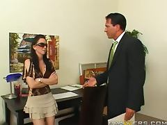 Hory Brunette Rayveness Rides Marco Banderas Hard Cock