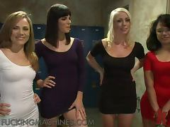 Another Live Action With Four Horny Babes And Sex Machines tube porn video