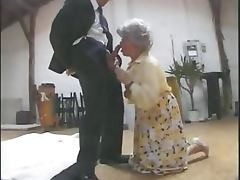 Vicious German Granny Gets Banged and Facialized in a Threesome Retro Porn