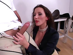 Amazing femdom handjob by hot mistress porn tube video