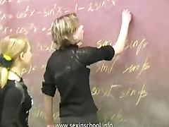 Girl on Girl Fun In a Russian Classroom