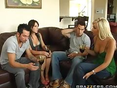 Swingers Night With The Hot Brunettes Penny Flame And Rebeca Linares porn tube video