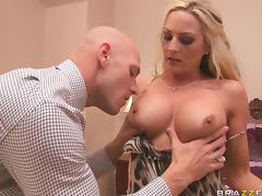 Busty Blonde Gets her Just Deserved From a Big Cock