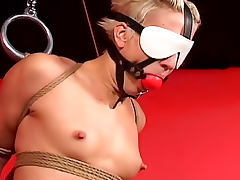 Blindfolded, Babe, BDSM, Blindfolded, Blonde, Extreme