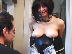 Amazing nipple torture with cute brunette porn tube video