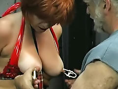 Redhead bitch wants to lick her babes love tunnel
