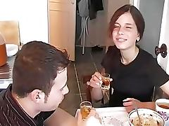 Drinking, Brunette, Drinking, Russian, Sex