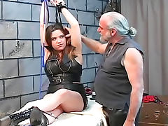Kinky couple submits in the dungeon tube porn video