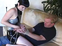Shiny latex dominatrix abuses porn tube video