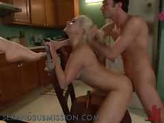 Anal Pounding In BDSM Game For A Smoking Hot Blonde