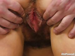 Hairy vagina on sexy mature